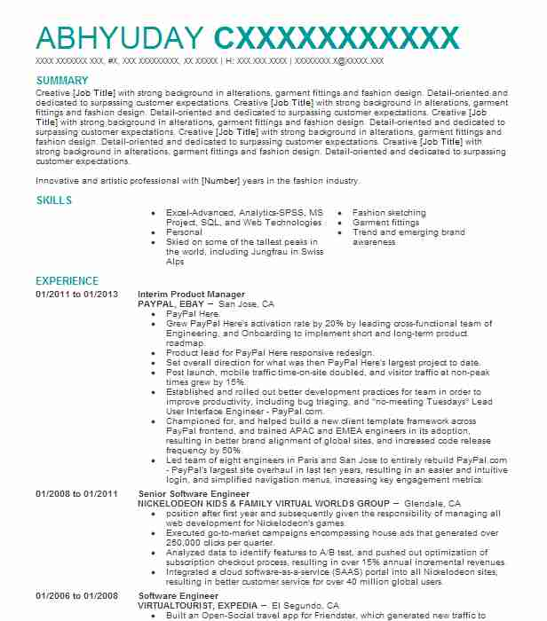 1662 Costume Design Resume Examples Art, Fashion And Design - costume design resume