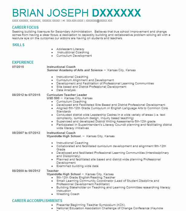 9207 Continuing Education Resume Examples Education And Training