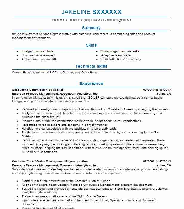 Best Order Picker Resume Example LiveCareer - resume order