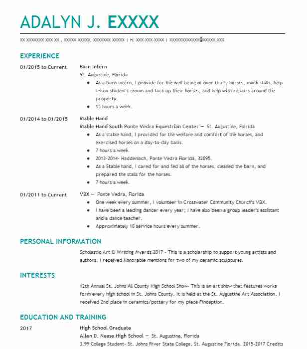 89 Ranch Resume Examples in Florida LiveCareer