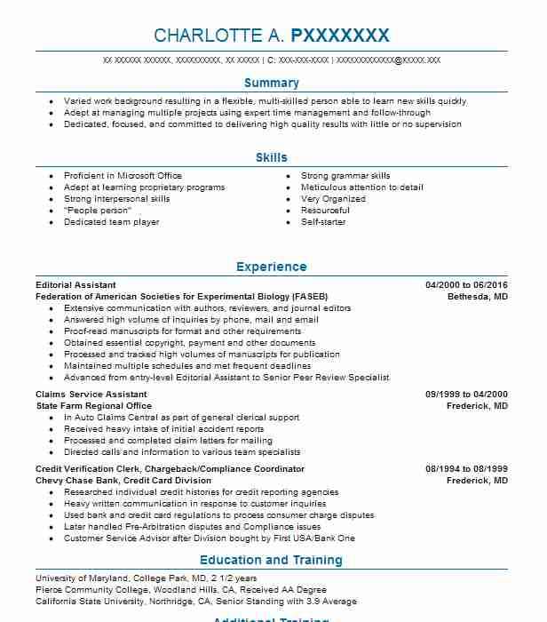 Editorial Assistant Resume Sample Assistant Resumes LiveCareer - assistant editor resume