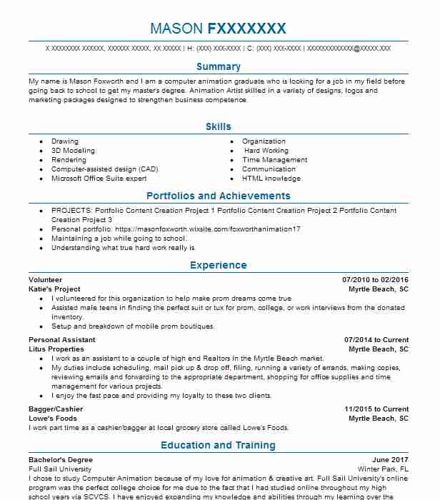 student volunteer resume sample