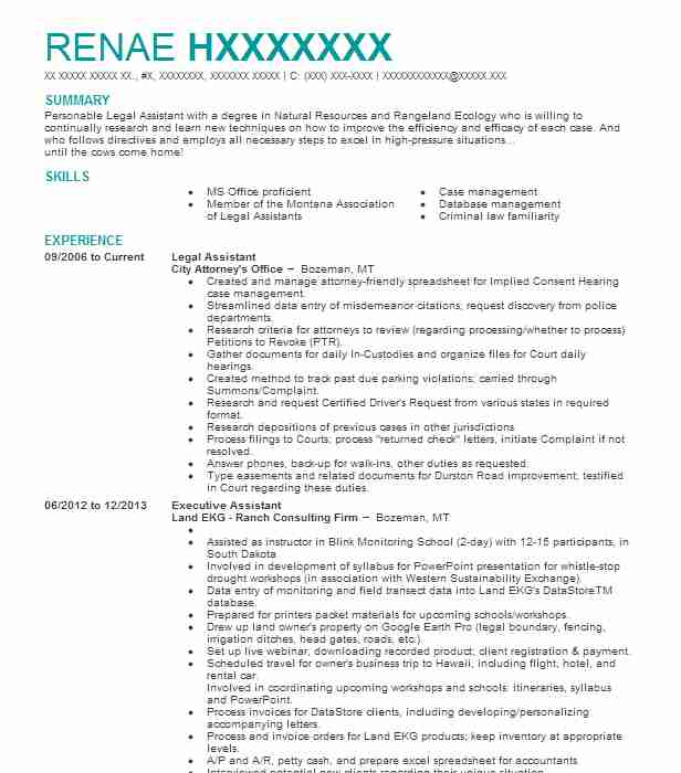 Best Legal Assistant Resume Example LiveCareer - legal assistant resumes