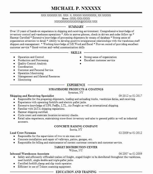 454 Shipping And Freight Resume Examples in New York LiveCareer - freight specialist sample resume