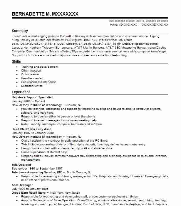 Entry Level Resume Sample Entry Level Resumes LiveCareer