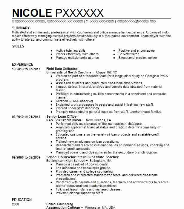 97 School Counseling Resume Examples in Connecticut LiveCareer