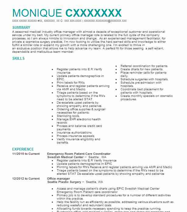 1652 Office Management Resume Examples in Washington LiveCareer - office management resume