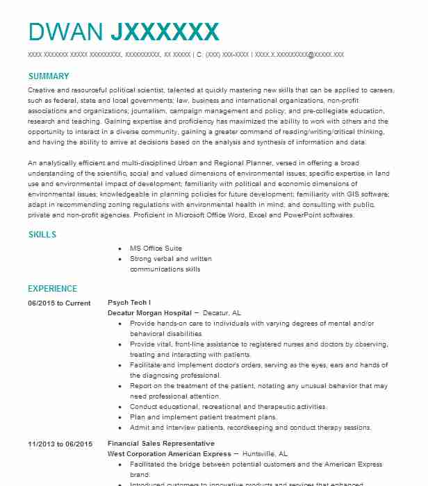 16837 Green Jobs Resume Examples  Samples LiveCareer