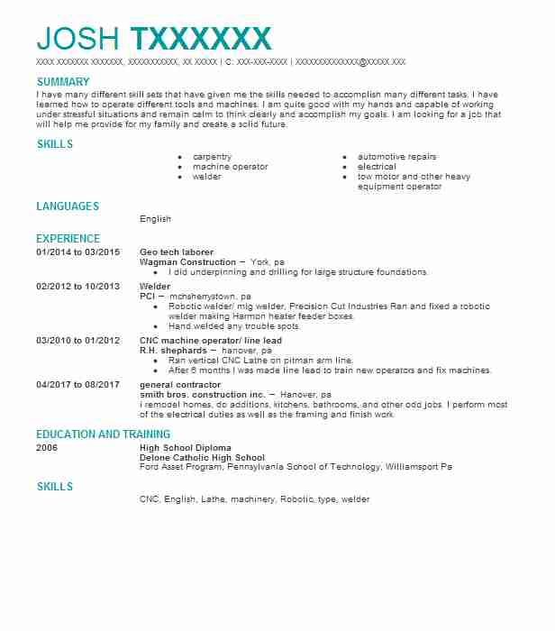 Best Welder Resume Example LiveCareer