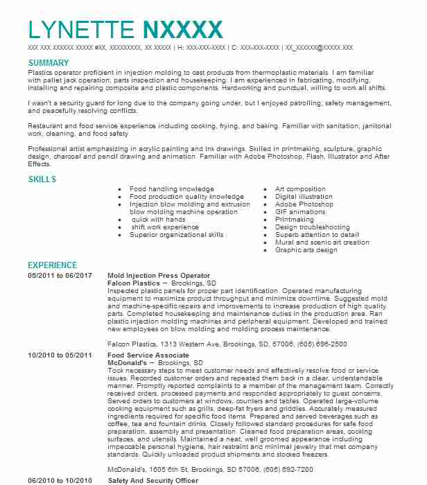 24 Plastic Workers (Manufacturing And Production) Resume Examples in