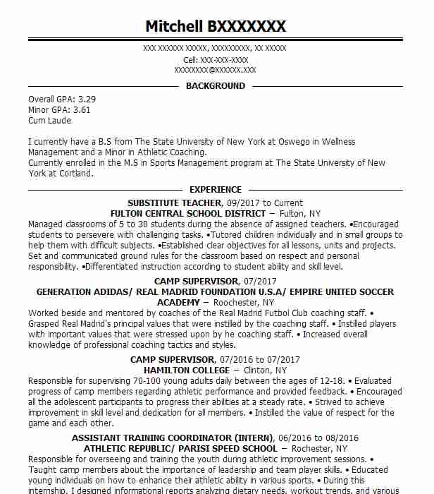 53676 Sports Resume Examples  Samples LiveCareer