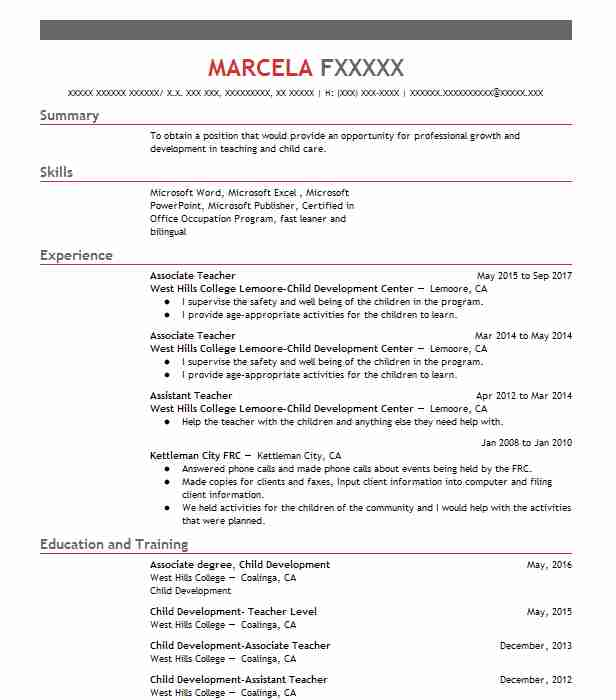 Child Development Resume - Arch-times