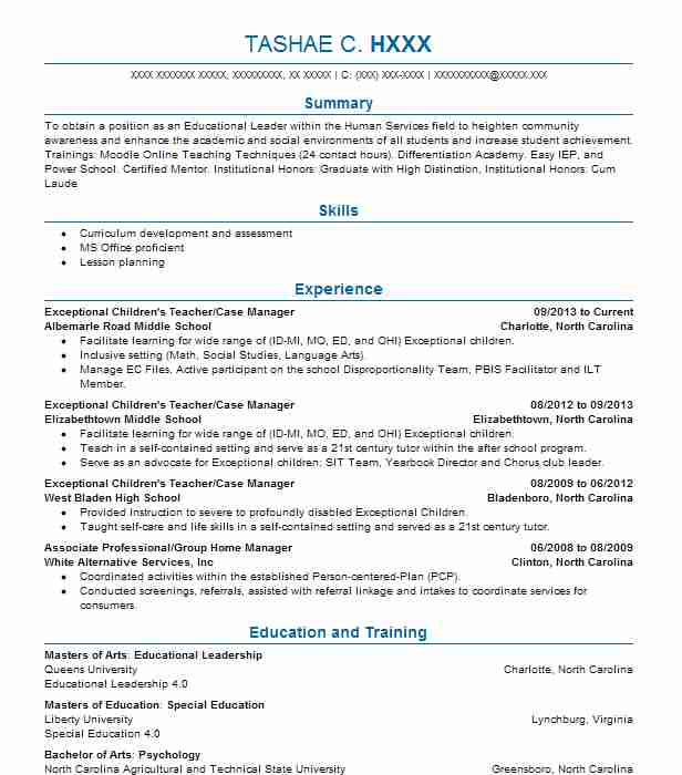 924 Instructors And Trainers Resume Examples in North Carolina - life skills trainer sample resume