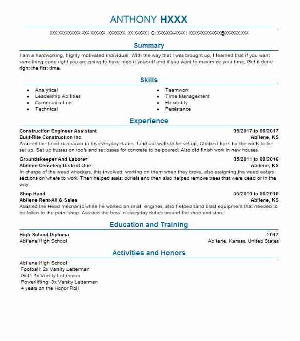 14 Extraction And Mining Resume Examples in Kansas LiveCareer - mining resume samples