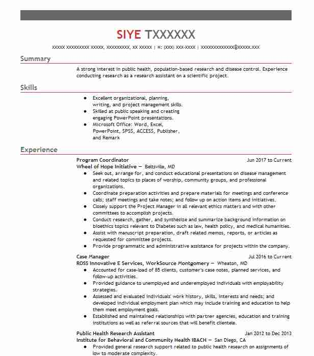 1820 Research Resume Examples Social Sciences Resumes LiveCareer