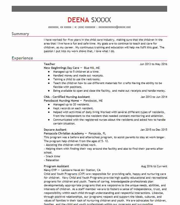 show me example resumes