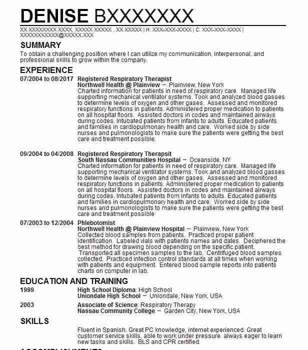 Radiation Therapist Resume Example (Summa Health) - Youngstown, Ohio - radiation therapist resume