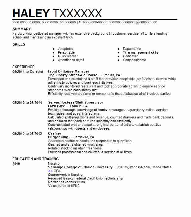 Find Resume Examples in Oil City, PA LiveCareer