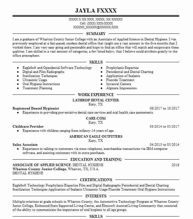 15214 Dental Hygienists Resume Examples Dental Resumes LiveCareer