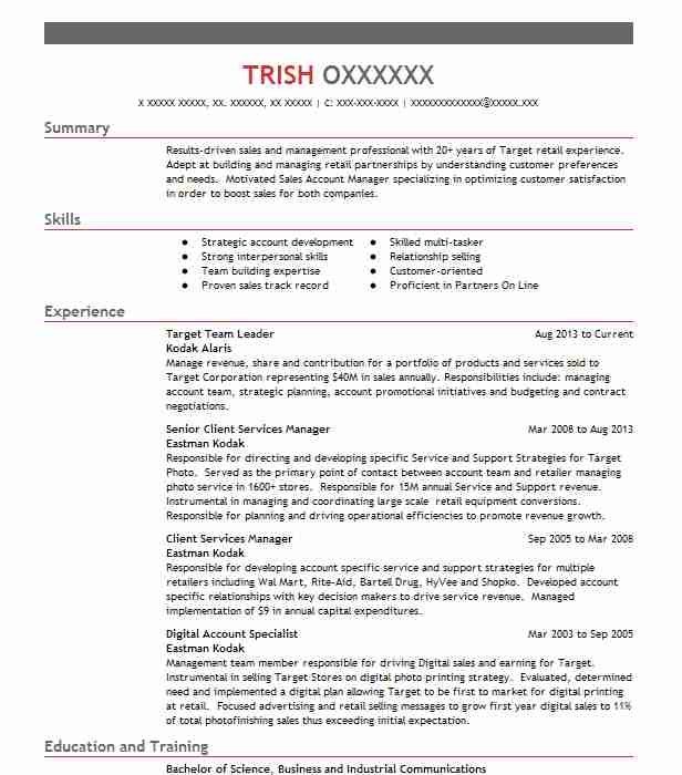Target Team Leader Resume Sample Leader Resumes LiveCareer