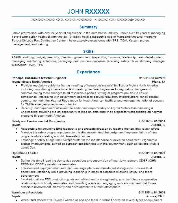 Principal Resume Sample Resumes Misc LiveCareer