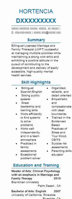 Counseling Psychologist Resume Sample LiveCareer - psychology sample resume