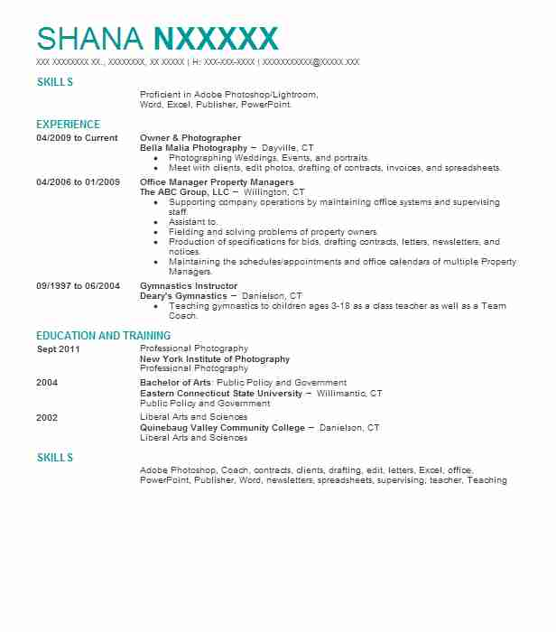 Product Photographer Resume Example (Mouser Electronics) - Fort