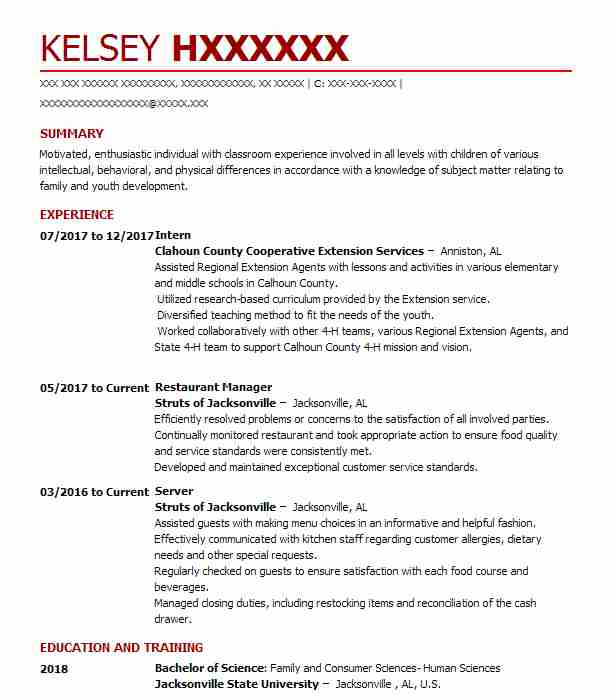 6173 Teachers And Instructors Resume Examples Community And Public - County Extension Agent Sample Resume