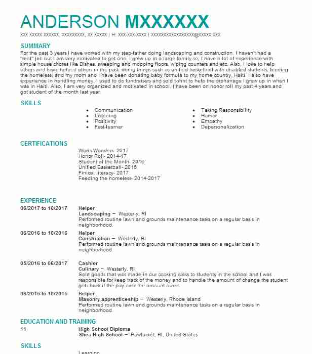 Best Landscaping Resume Example LiveCareer