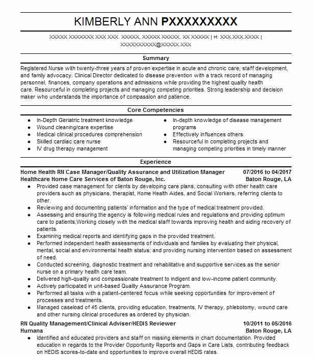 8425 Case Managers Resume Examples Nursing Resumes LiveCareer