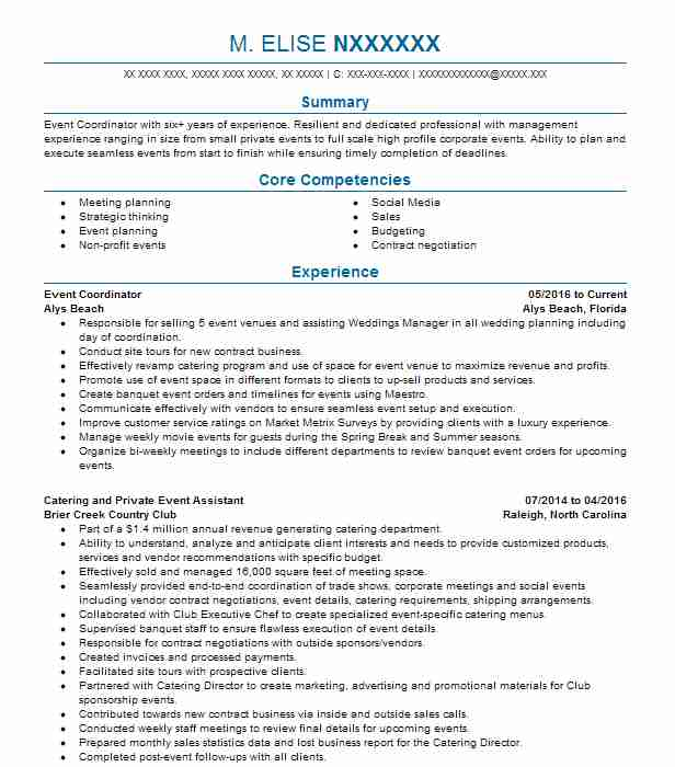 Recreation Supervisor Resume Example (Omni Hilton Head Resortsample