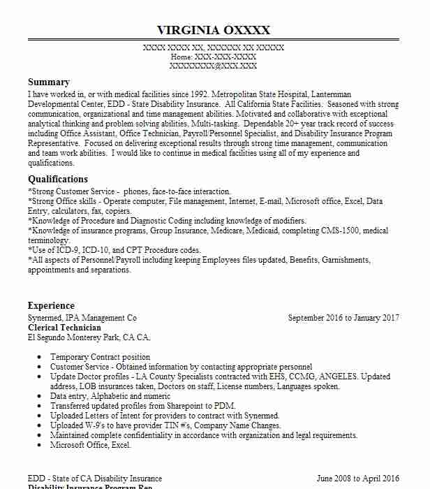 Eye-Grabbing Clerical Resumes Samples LiveCareer - Clerical Resume Templates