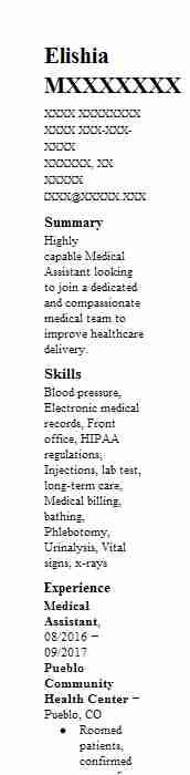 Best Medical Assistant Resume Example LiveCareer - resume of a medical assistant