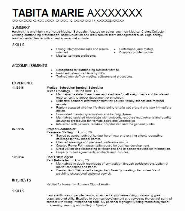 Master Scheduler Resume Sample Scheduler Resumes LiveCareer - master scheduler sample resume