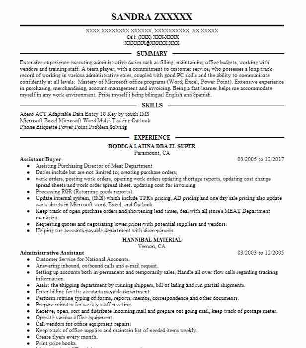 Buyer Resume Sample Sales Resumes LiveCareer - buyer resume samples