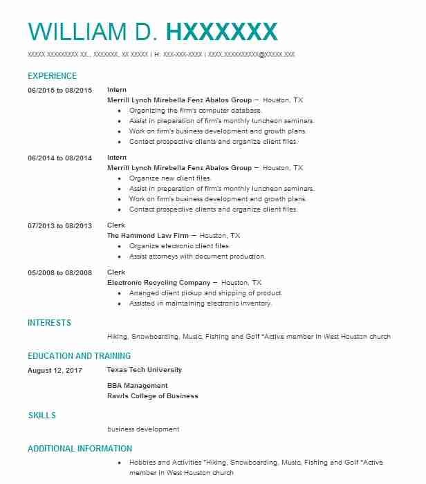 7842 Business Administration (Business) Resume Examples in Texas - church business administrator sample resume