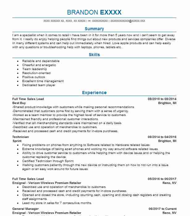 Part Time Cashiers Objectives Resume Objective LiveCareer - apple store resume