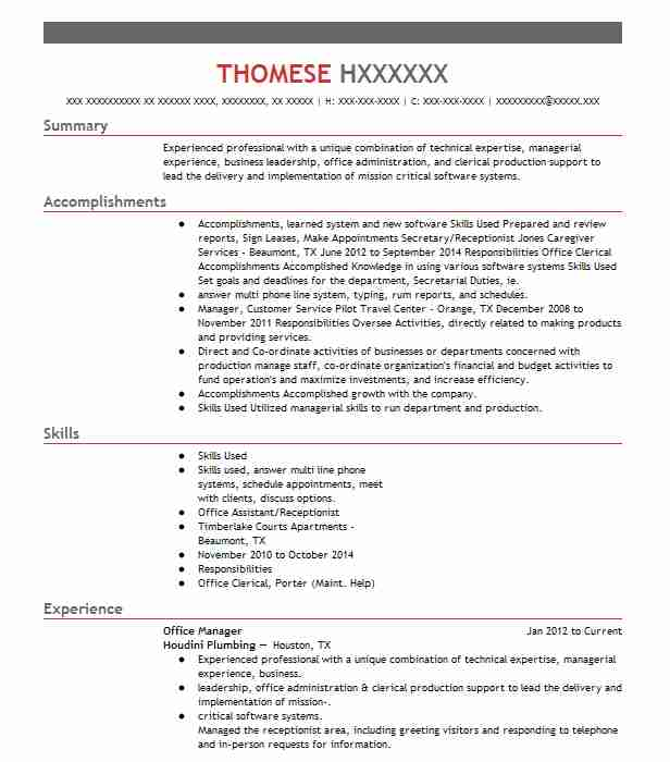 Best Office Manager Resume Example LiveCareer - Office Manager Skills Resume