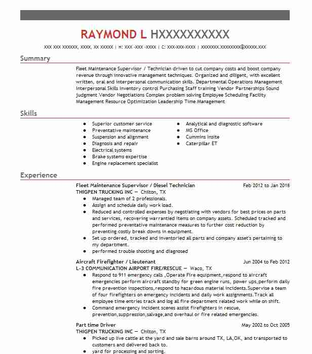 Fire Captain Resume Sample Fire Resumes LiveCareer - fire captain resume