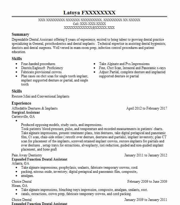Surgical Assistant Resume Sample Assistant Resumes LiveCareer