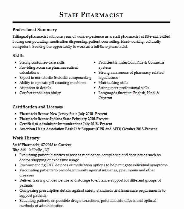 162 Pharmacists Resume Examples in Kansas LiveCareer - cardinal health pharmacist sample resume