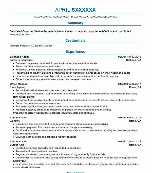 Dunkin Donuts Shift Leader Resume Sample Leader Resumes LiveCareer