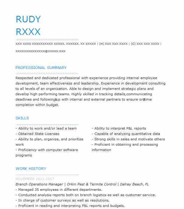Branch Operations Manager Resume Sample Manager Resumes LiveCareer