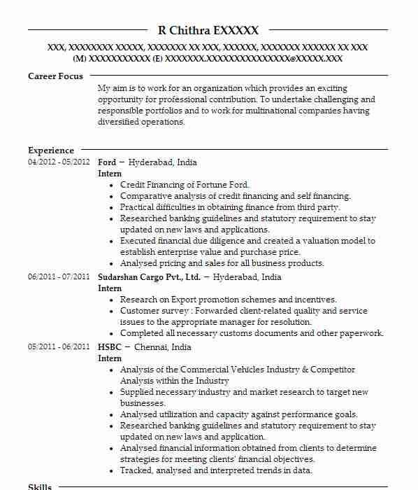165 Banking And Financial Services CV Examples Business CVs