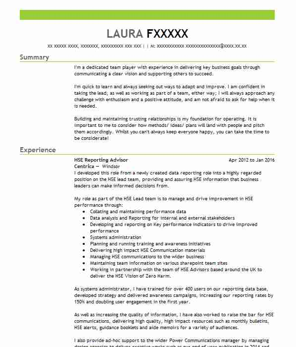 Supply Teacher (Primary) CV Example (West Country Educational Agency