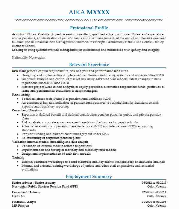732 Insurance CV Examples  Templates LiveCareer