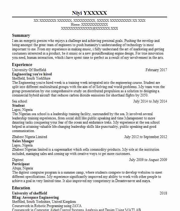 9960 Engineering CV Examples  Templates LiveCareer