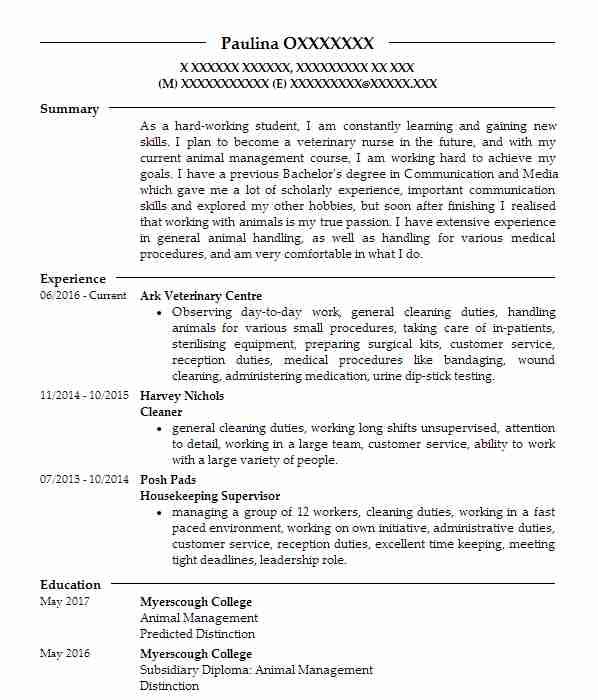 resume summary examples for biologist