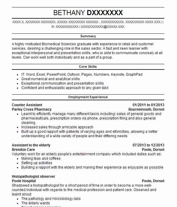 143 Pharmacology And Pharmaceuticals CV Examples Science CVs