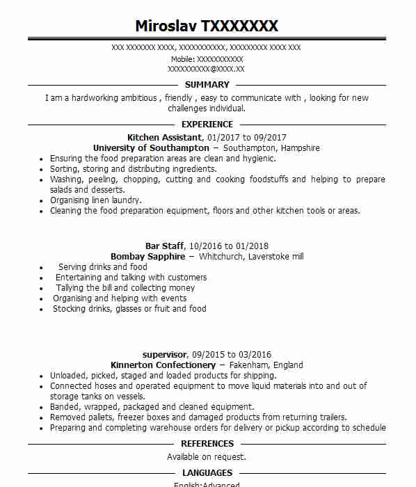 role of english language assistant cv